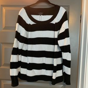 Lucky brand black and white striped sweater